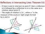 reflections in intersecting lines theorem 9 6