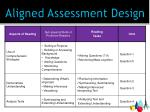 aligned assessment design