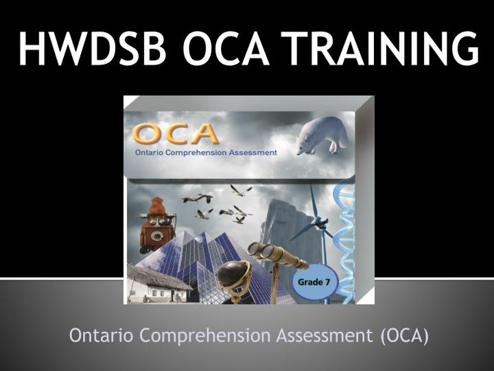 ontario comprehension assessment oca n.