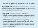 interdisciplinary approach nutrition