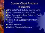 control chart problem indicators