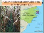 cry1f resistant fall armyworm found in hyde county 2013