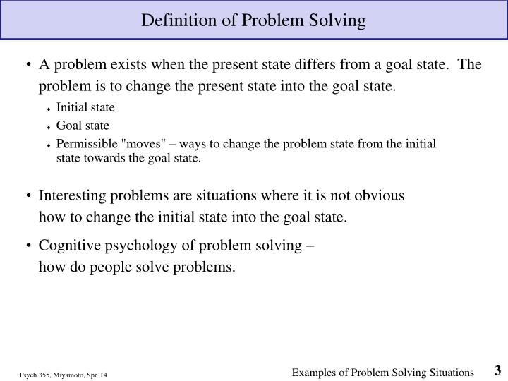 problem solving situations