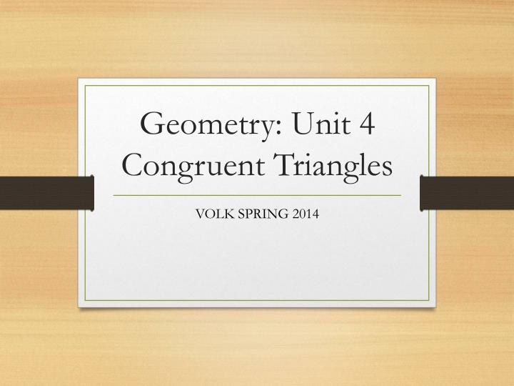 geometry unit 4 congruent triangles n.
