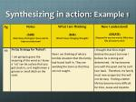 synthesizing in action example 1