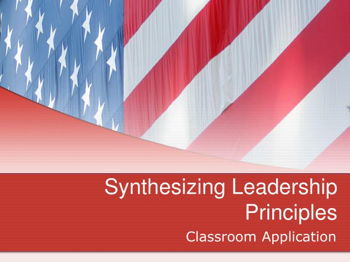 synthesizing leadership principles n.