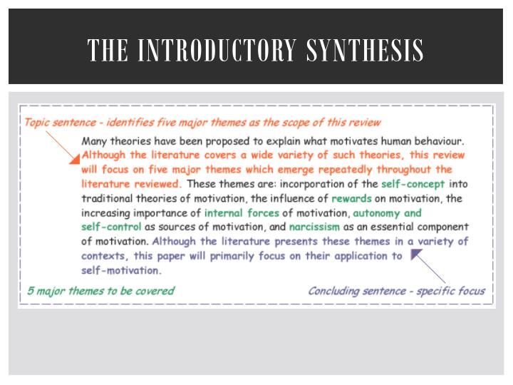 The Introductory Synthesis