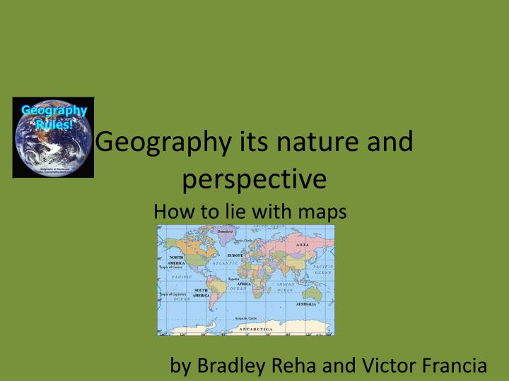 geography its nature and perspective n.