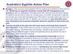 australia s syphilis action plan