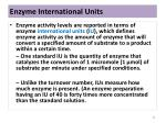 enzyme international units