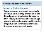 medical applications of enzymes
