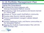a 16 portfolio management plan
