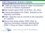 gao response actions update