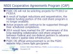 nsdi cooperative agreements program cap