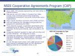 nsdi cooperative agreements program cap1