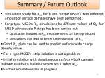 summary future outlook