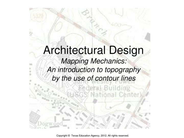 architectural design mapping mechanics an introduction to topography by the use of contour lines n.