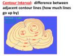 contour interval difference between adjacent contour lines how much lines go up by