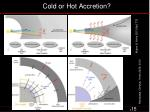 cold or hot accretion