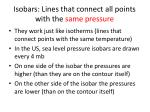 isobars lines that connect all points with the same pressure