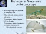 the impact of temperature on the landscape