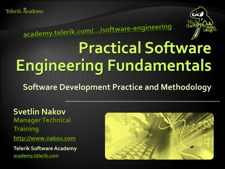 practical software engineering fundamentals n.