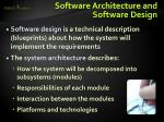 software architecture and software design1