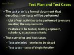 test plan and test cases