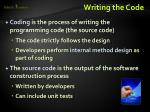writing the code