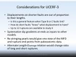 considerations for ucerf 3