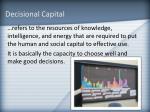 decisional capital
