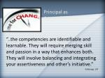 principal as agent of change