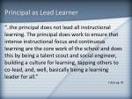 principal as lead learner