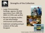 strengths of the collection
