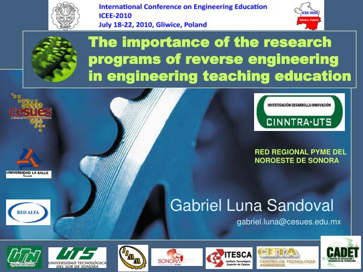 the importance of the research programs of reverse engineering in engineering teaching education n.