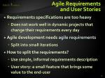 agile requirements and user stories