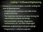 coding software engineering
