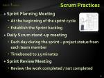 scrum practices
