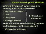software development activities