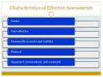 characteristics of effective assessments