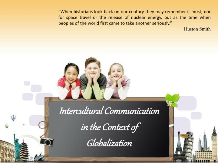 intercultural communication in the context of globalization n.