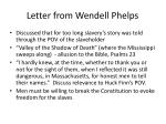 letter from wendell phelps