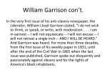 william garrison con t