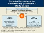 targeted intraoperative radiotherapy targit a study design