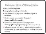 characteristics of demography