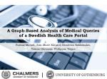 a graph based analysis of medical queries of a swedish health care portal