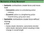 mechanics of body movement