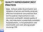 quality improvement best practices
