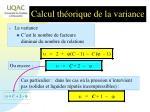 calcul th orique de la variance1