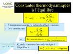 constantes thermodynamiques l quilibre1